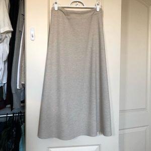 NWOT Textured Heathered Oatmeal A Line Midi Skirt